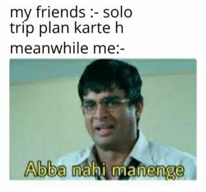 solo trip meme, trip